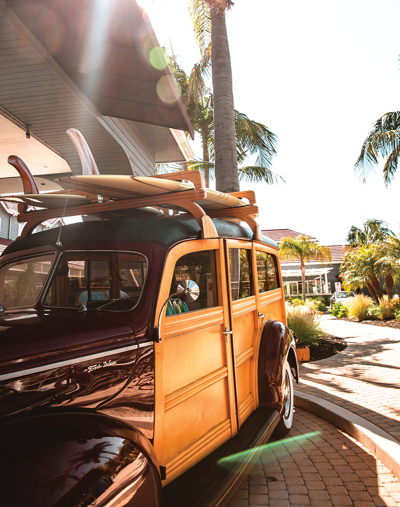 Woody parked at Laguna Cliffs Marriott for Click Away 2019 Photography Conference