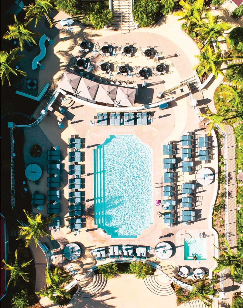Overhead view of Laguna Cliffs Marriott for Click Away 2019 Photography Conference